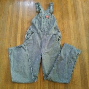 Dickies Bib Overalls Hickory Stripe Conductor